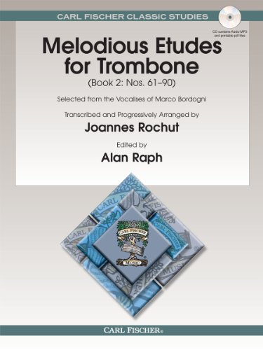 9780825890598: Melodious Etudes for Trombone: Nos. 61-90: Selected from the Vocalises of Marco Bordogni: 2