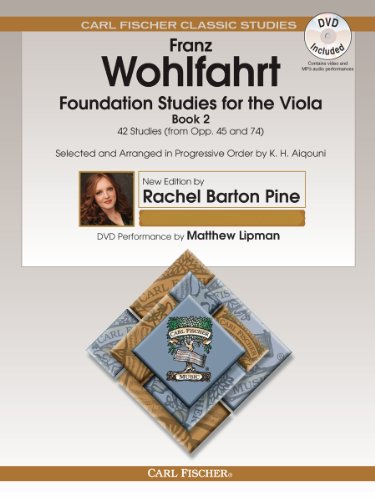 9780825893452: O2660X - Foundation Studies for the Viola - Book 2 - 42 Studies (from Opp. 45 and 74) - Book & DVD