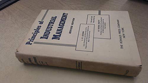 Principles of Industrial Management: Alford, L.P.