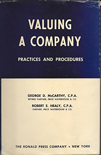 9780826058256: Valuing a Company: Practices and Procedures