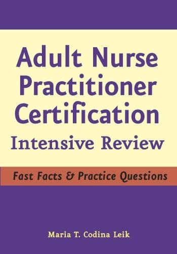 9780826102959: Adult Nurse Practitioner Certification: Intensive Review