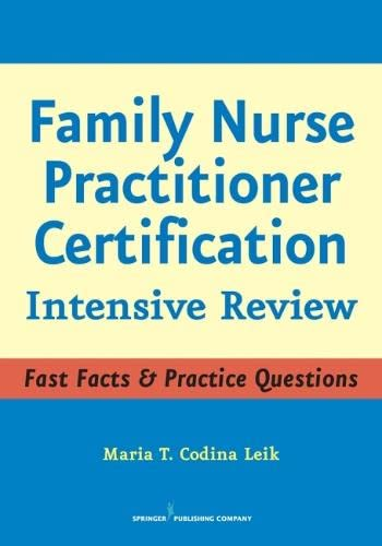9780826102966: Family Nurse Practitioner Certification: Intensive Review