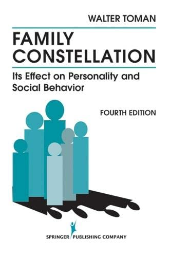 9780826104960: Family Constellation: Its Effects on Personality and Social Behavior, 4th Edition
