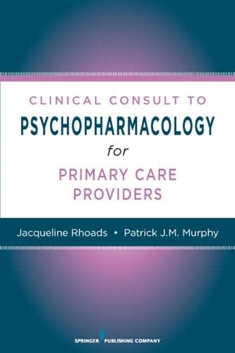 9780826105035: Nurses' Clinical Consult to Psychopharmacology