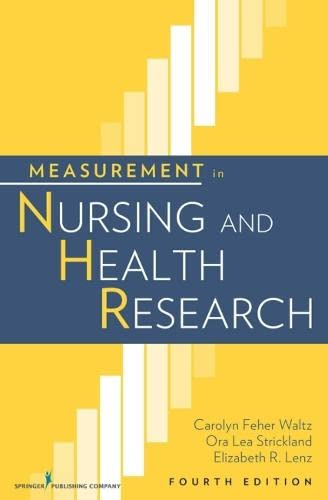 9780826105073: Measurement in Nursing and Health Research: Fourth Edition (Waltz, Measurement in Nursing and Health Research)