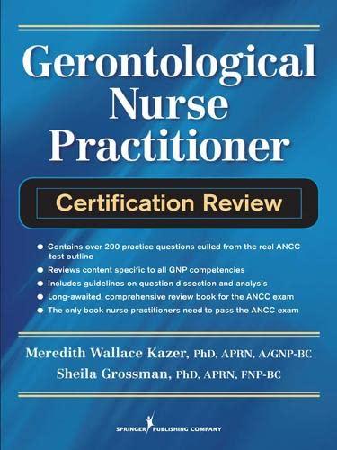 9780826106438: Gerontological Nurse Practitioner Certification Review