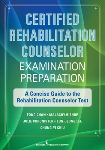 9780826108418: Certified Rehabilitation Counselor Examination Preparation: A Concise Guide to the Rehabilitation Counselor Test