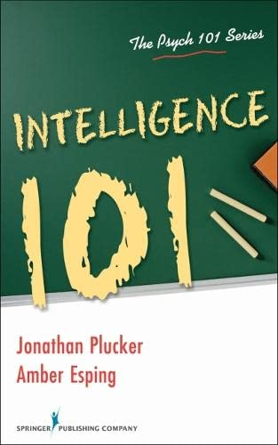 9780826111258: Intelligence 101 (The Psych 101)