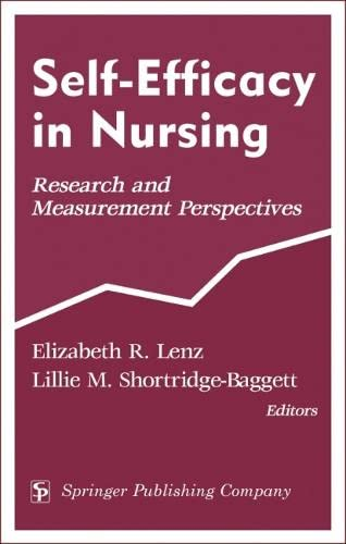 9780826115638: Self-Efficacy In Nursing: Research and Measurement Perspectives