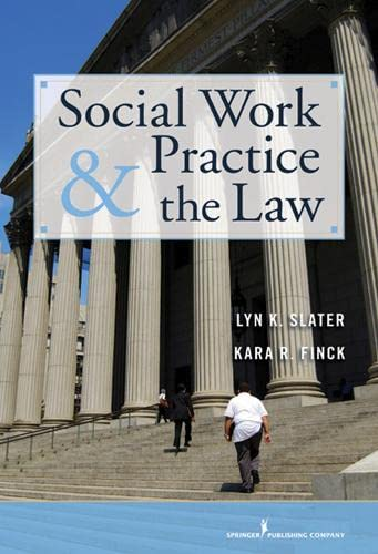 9780826117663: Social Work Practice and the Law