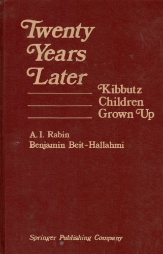 9780826133106: Twenty Years Later: Kibbutz Children Grown Up