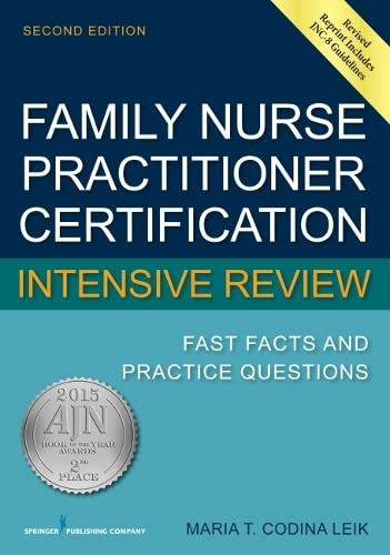 9780826134240: Family Nurse Practitioner Certification Intensive Review: Fast Facts and Practice Questions