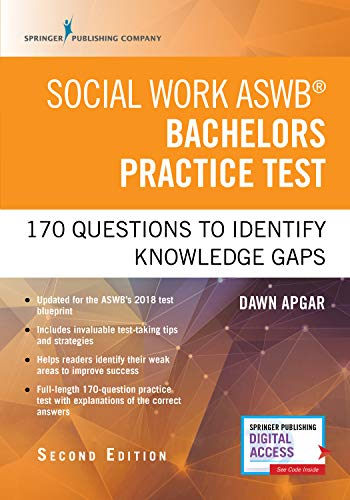 9780826147240: Social Work ASWB Bachelors Practice Test: 170 Questions to Identify Knowledge Gaps (Book + Digital Access)