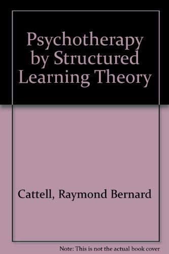 9780826150806: Psychotherapy by Structured Learning Theory