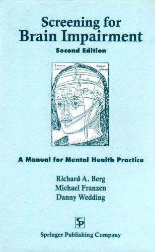 9780826157416: Screening for Brain Impairment: A Manual for Mental Health Practice, Second Edition