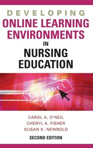 9780826169020: Developing Online Learning Environments, Second Edition (Springer Series on the Teaching of Nursing)