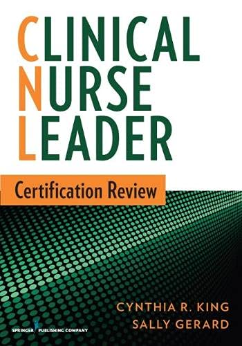 9780826171177: Clinical Nurse Leader Certification Review