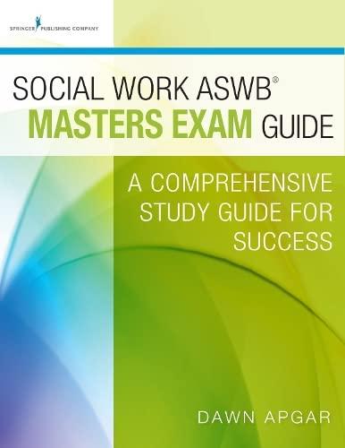 9780826172037: Social Work ASWB Masters Exam Guide: A Comprehensive Study Guide for Success