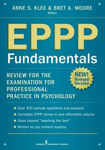 9780826199737: EPPP Fundamentals: Review for the Examination for Professional Practice in Psychology