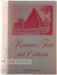 Romantic Texts and Contexts (0826206492) by Donald H. Reiman