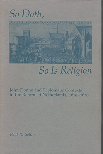 So Doth, So Is Religion.: Sellin, Paul