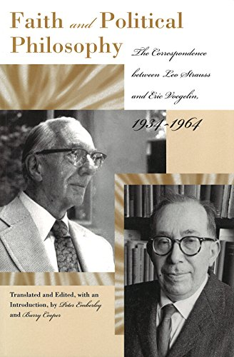 9780826215512: Faith And Poltical Philosophy: The Correspondence between Leo Strauss and Eric Voegelin, 1934-1964