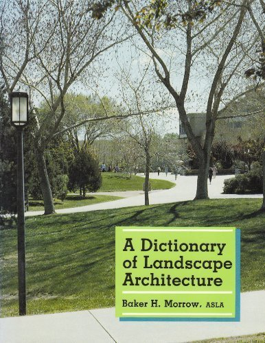 9780826309440: A Dictionary of Landscape Architecture