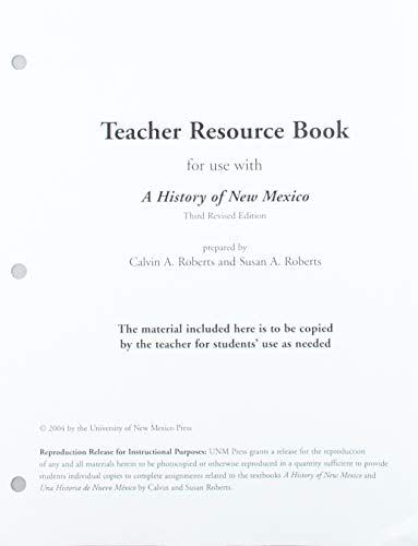 9780826337597: A History of New Mexico, 3rd Revised Edition, Teacher Guide
