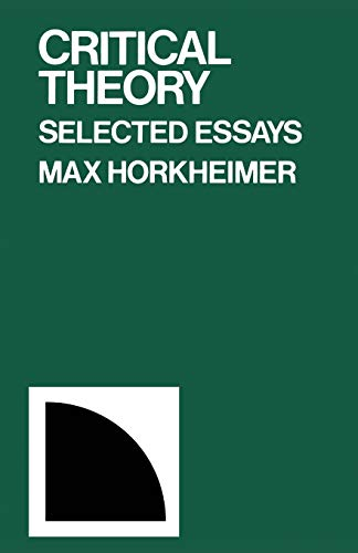 9780826400833: Critical Theory: Selected Essays