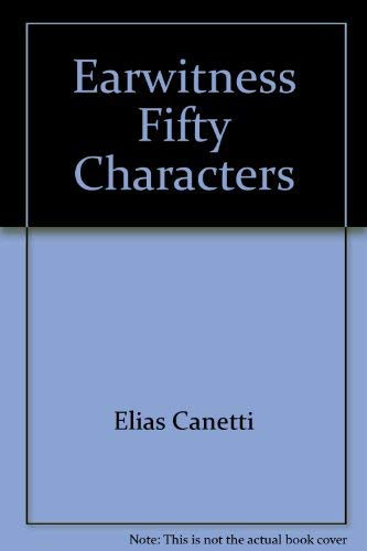 9780826400963: Earwitness: Fifty Characters