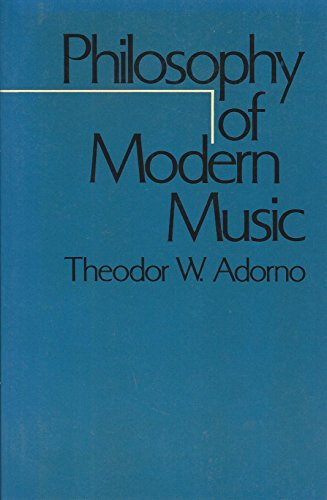 9780826401380: Philosophy of Modern Music (Philosophy of Modern Music Ppr) (English and German Edition)