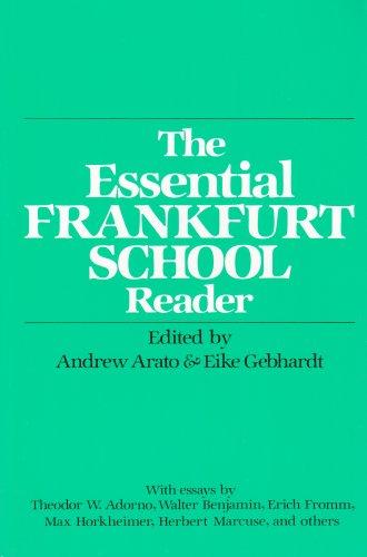 9780826401946: The Essential Frankfurt School Reader (Essential Frankfurt Schl Reader Ppr)