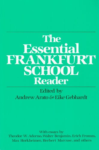 9780826401946: The Essential Frankfurt School Reader