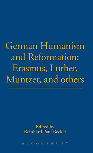 9780826402516: German Humanism and Reformation: Erasmus, Luther, Muntzer, and others (German Library)