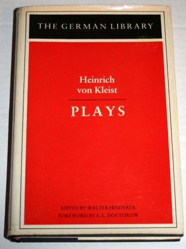9780826402530: 025: Heinrich Von Kleist Plays (The German library) (English and German Edition)