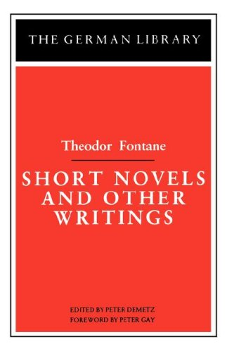 9780826402608: Short Novels and Other Writings: Theodor Fontane (German Library)