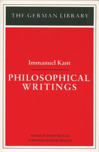 9780826402783: Philosophical Writings (German Library)