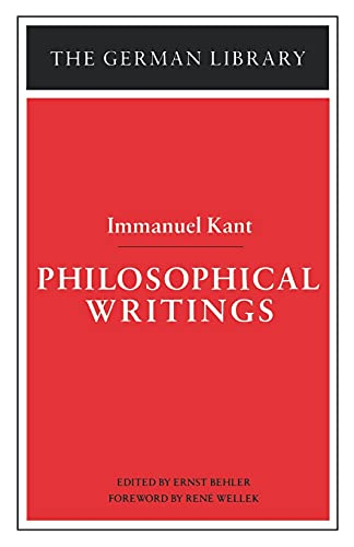 Philosophical Writings: Immanuel Kant