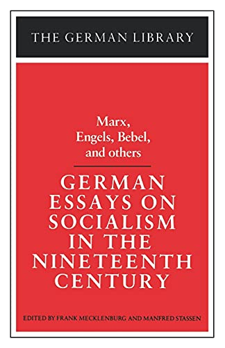 9780826403247: German Essays on Socialism in the Nineteenth Century: Marx, Engels, Bebel, and others (German Library)