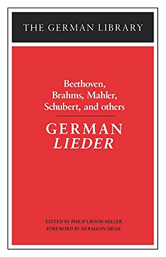 9780826403285: German Lieder: Beethoven, Brahms, Mahler, Schubert, and others (German Library)