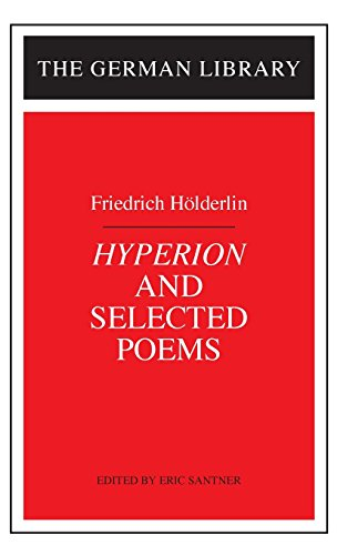 9780826403339: Hyperion and Selected Poems: Friedrich Hlderlin (German Library)