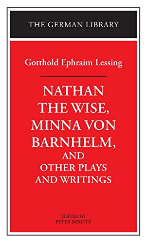 9780826407061: Nathan the Wise, Minna von Barnhelm, and Other Plays and Writings: Gotthold Ephraim Lessing (German Library)