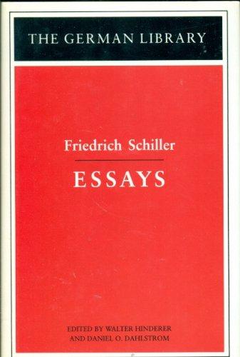 9780826407122: Essays: Friedrich Schiller (German Library)