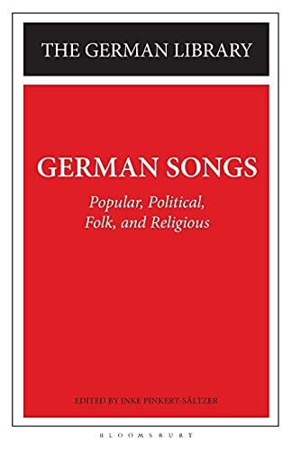 9780826407313: German Songs: Popular, Political, Folk, and Religious (German Library)