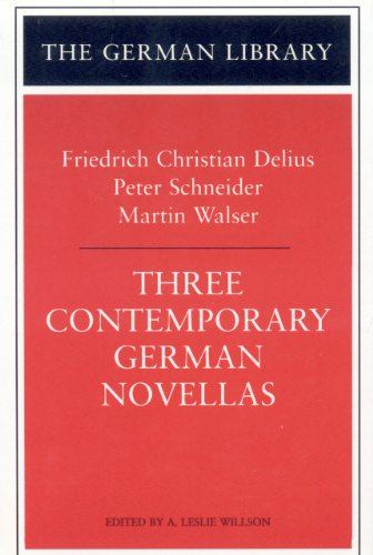 9780826412133: Three Contemporary German Novellas: Lenz, a Runaway Horse, the Sunday I Became World Champion