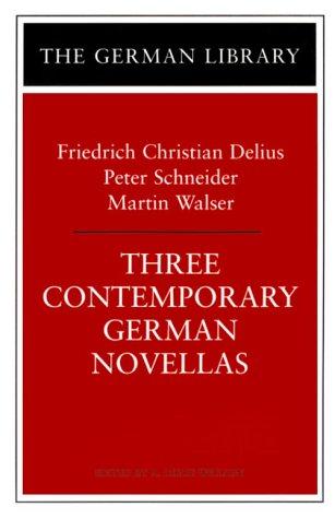 9780826412140: Three Contemporary German Novellas: Lenz, a Runaway Horse, the Sunday I Became World Champion