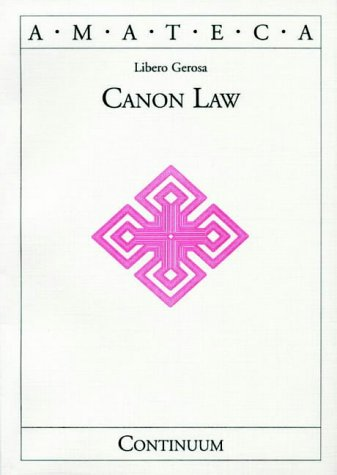 9780826413901: Canon Law