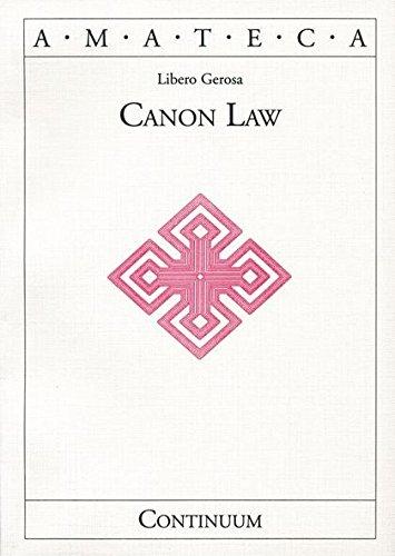 9780826413918: Canon Law (Handbooks of Catholic Theology)