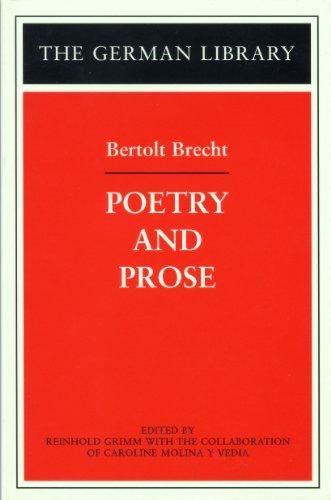 9780826415042: Poetry and Prose: Bertolt Brecht (German Library)