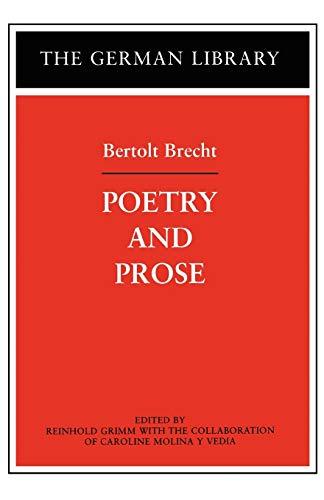 9780826415059: Poetry and Prose: Bertolt Brecht (German Library)